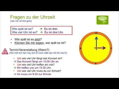 Học Tiếng Đức Qua Video – Chủ đề Bây Giờ Là Mấy Giờ – Die Uhrzeit