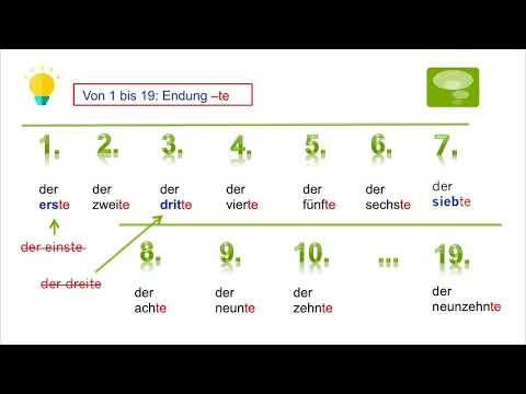 Học Tiếng Đức Qua Video – Chủ đề Số Thứ Tự – Die Ordinalzahlen