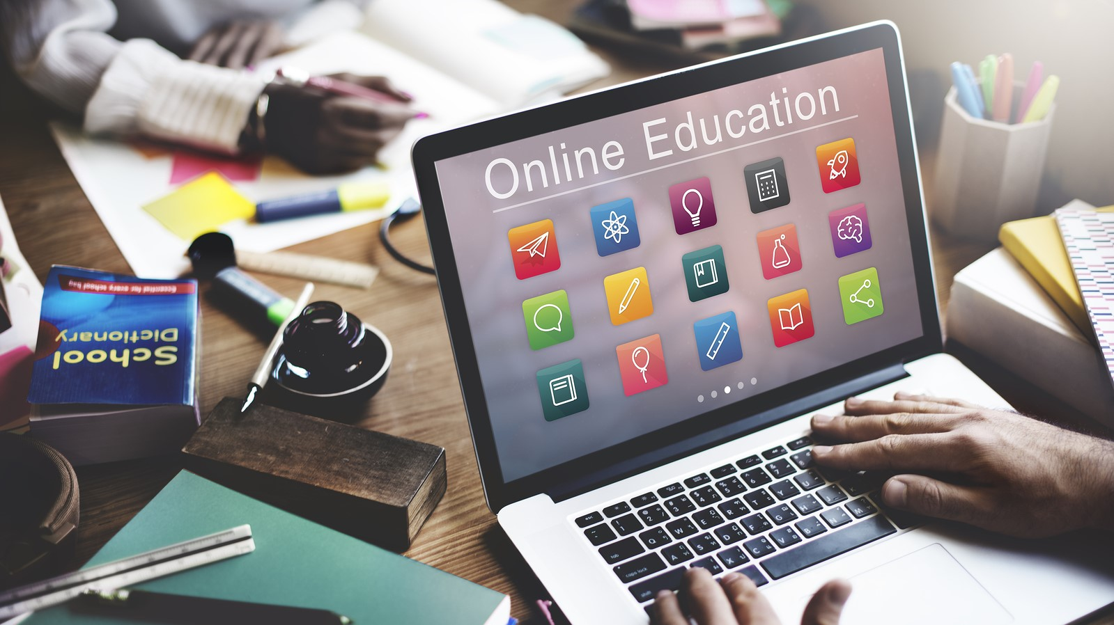 E Learning Online Education Application Concept